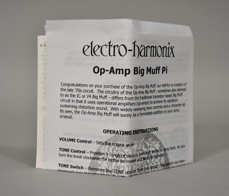 electro harmonix big muff pi op amp reissue fuzz effect pedal reverb. Black Bedroom Furniture Sets. Home Design Ideas