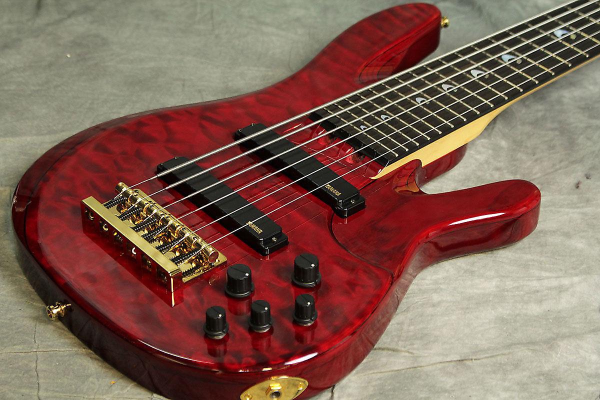 Yamaha john patitucci 6 string signature bass trans dark for Yamaha 6 string bass