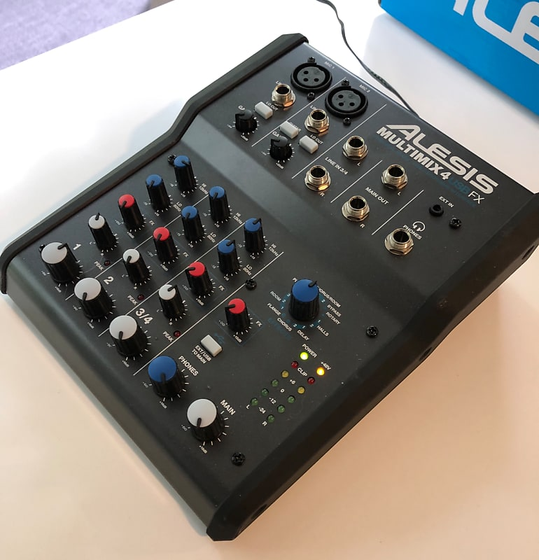 alesis multimix 4 usb fx 4 channel mixer with effects reverb. Black Bedroom Furniture Sets. Home Design Ideas