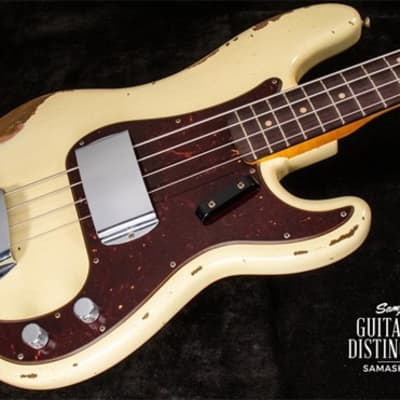 Fender Custom Shop 1960 Precision Bass Heavy Relic Vintage White for sale