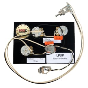 920D Custom Shop LP3P Bourns/CTS/Switchcraft Les Paul Black Beauty 3-Pickup Wiring Harness
