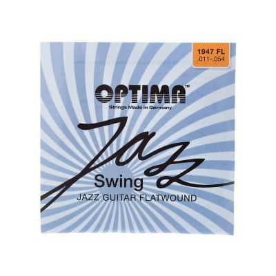 Optima Chrome Flatwound Jazz Swing Electric 11-54