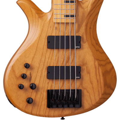 Schecter Riot-5 Session LH Aged Natural Satin