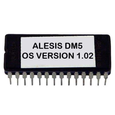 Alesis DM5 firmware OS upgrade: v 1.02 - Final Update Eprom DM-5