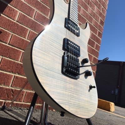 2012 Schecter USA CUSTOM SHOP MASTERWORKS Avenger Custom Kahler Trans White  w/ Case (NAMM SHOW) for sale
