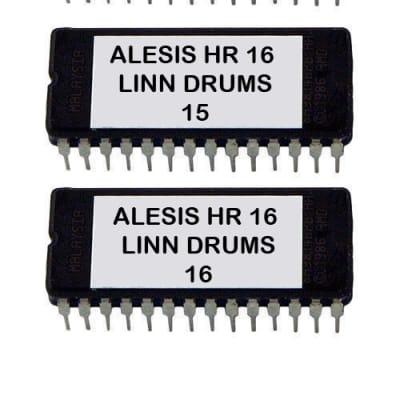 LinnDrums Lm2  Sounds for Alesis HR-16 / Hr-16B  - Eprom Upgrade Set OS 2.0 + Linn Drum Sounds