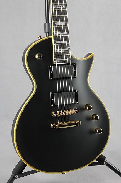esp ltd ec 1000 deluxe series electric guitar vintage black reverb. Black Bedroom Furniture Sets. Home Design Ideas