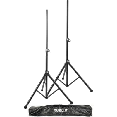 Quik-Lok S-171PAK Tripod Speaker Stands (PAIR) w/ Tote bag, New, Free Shipping