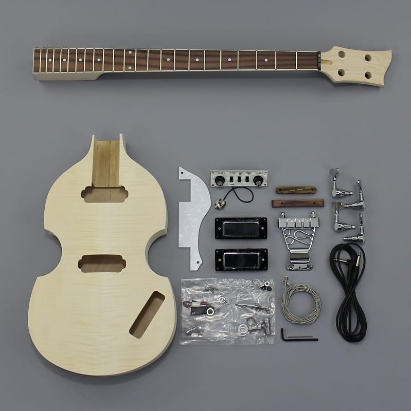 Bargain Musician Bk 006 Diy Unfinished Project Luthier Bass Guitar Kit Maple 4 String