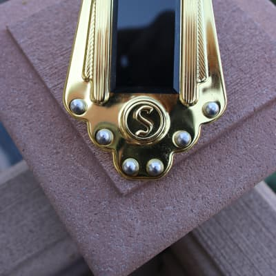 Saga Saga Gitane brass tailpiece 2010 polished brass for sale