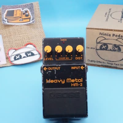 Boss HM-2 Heavy Metal Distortion Pedal   Vintage 1983 (made in Japan) Black Label   Fast Shipping!