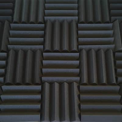 Acoustic Foam Panels - Bulk 3 Inch Thick Studio Foam Tiles - Charcoal Color - 48 Square Feet