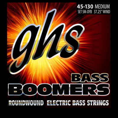 GHS 5M-DYB 5-String Bass Boomers, Nickel-Plated Bass Strings, Long Scale, Medium (.045-.130)