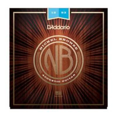 D'Addario NB1253 Nickel Bronze Acoustic Guitar Strings 12-53