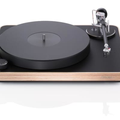 Concept Wood Turntable w/ Satisfy Carbon Tonearm (Silver) & Concept MC Cartridge