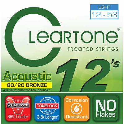 Cleartone 80/20 Bronze Acoustic Strings - 12-53