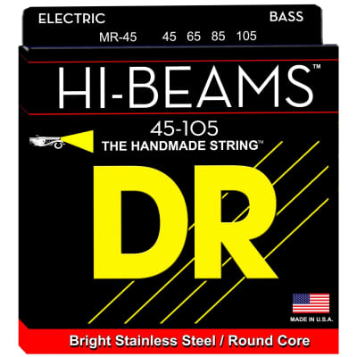 DR Strings MR-45 45-105 4str Hi-Beam Bass Strings