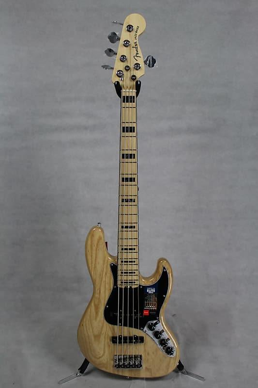 fender american elite jazz bass 5 string mn natural reverb. Black Bedroom Furniture Sets. Home Design Ideas
