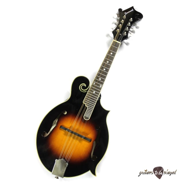Savannah SF-200-SN Hand-Carved Solid F-Style Mandolin - Sunburst image