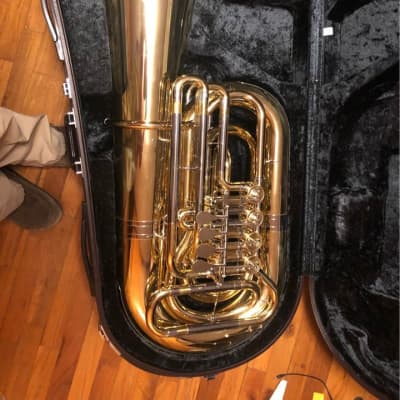 Yamaha YBB-641 Professional Bb Rotary Valve Tuba 2010s Lacquered Brass