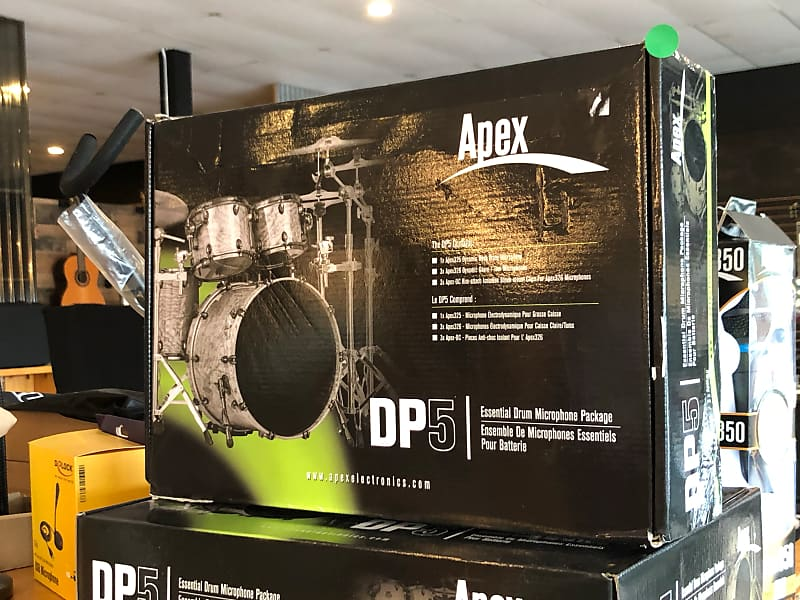 apex dp5 5 piece drum microphone set lyman music city reverb. Black Bedroom Furniture Sets. Home Design Ideas