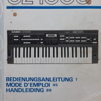 Casio Cz-1000 - Mode D'emploi - Fr/De/Nl