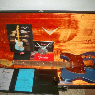 2018 Aged Lake Placid Blue Fender Telecaster Custom Shop 1960s Reissue Relic Rosewood Special Order for sale