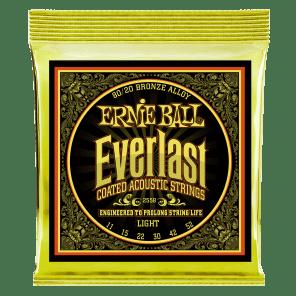 Ernie Ball 2558 Everlast 80/20 Bronze Light Coated Acoustic Guitar Strings (11-52)