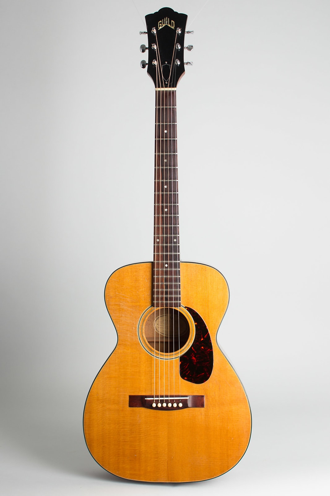 Guild  F-20NT Flat Top Acoustic Guitar (1967), ser. #AG-1851, black chipboard case.