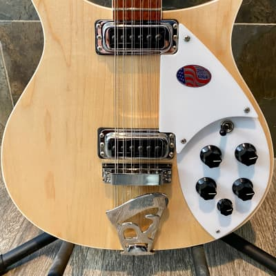 Awesome Gorgeous 2021 Rickenbacker 620-12 in Stunning Nude Mapleglo OHSC (549)