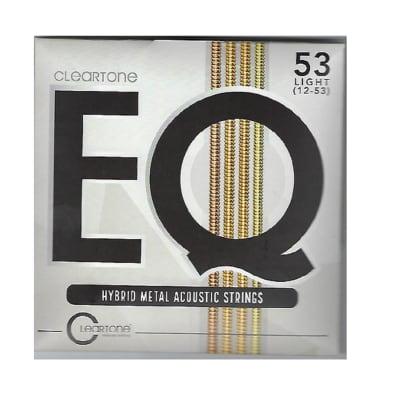 Cleartone 7812 EQ Hybrid Metal Acoustic Strings 12-53