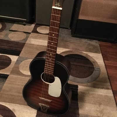 Kingston Acoustic Parlor 1970s Black Sunburst for sale