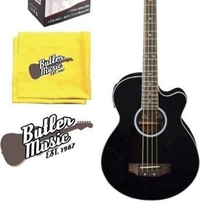 Oscar Schmidt OB100B Acoustic-Electric Bass with Gig Bag, Effin Tuner + More for sale