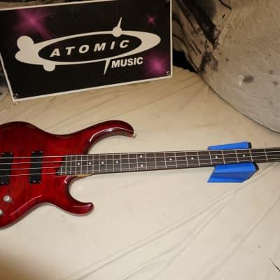 Ibanez BTB Series BTB400QM BTB400 400 4-string Bass MIK Korea 2001 Red for sale