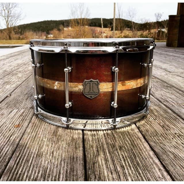 "T Berger Drums 14"" Steel Cast Snare Drum II - 14x8 image"
