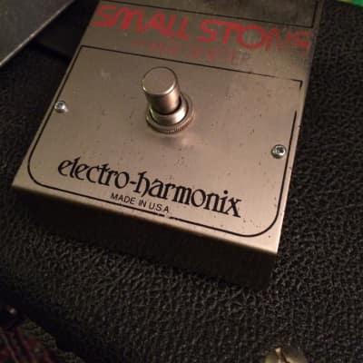 Electro Harmonix Small Stone Phaser 70's Silver, Orange, and Black