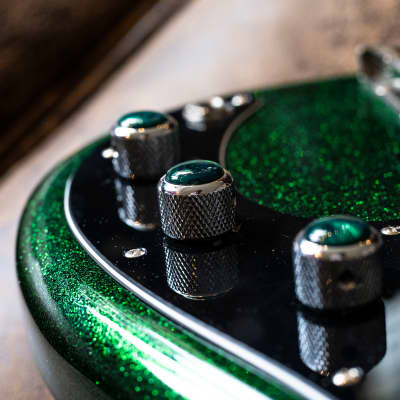 Raro Custom Guitars Erotic Flake Green