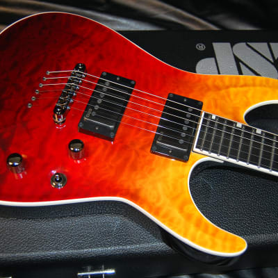 MINT! ESP Horizon NT E-II  2019 Tiger Eye Amber Fade - 100% Unplayed - Original ESP Case - SAVE Big! for sale