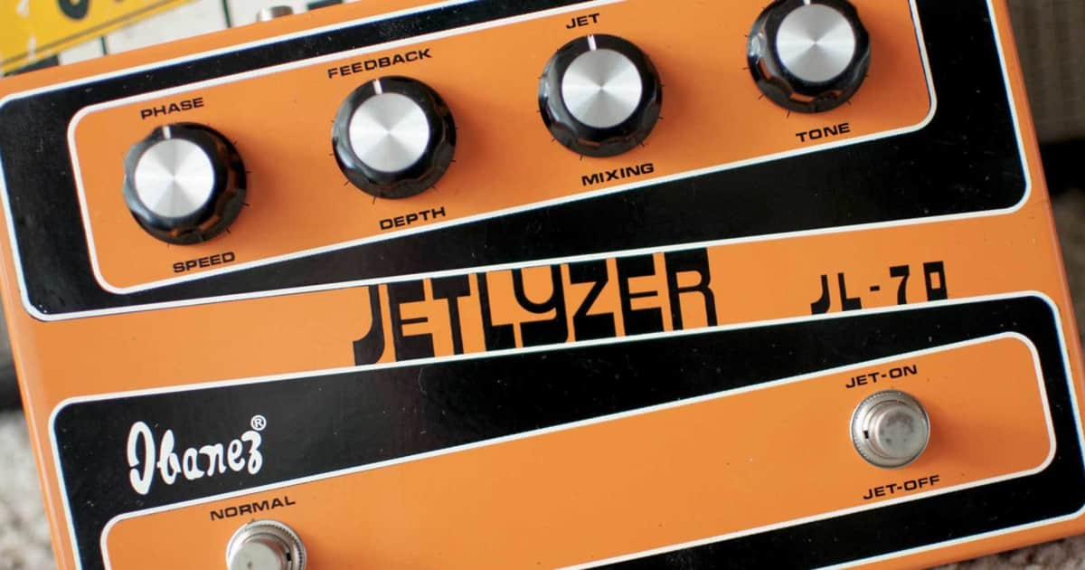 gallery snazzy fonts on vintage guitar pedals reverb news. Black Bedroom Furniture Sets. Home Design Ideas