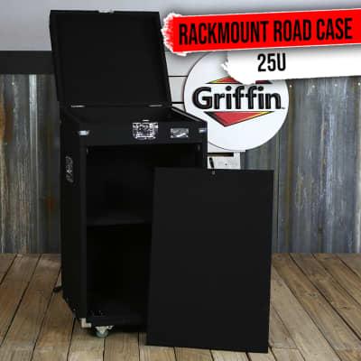 Rack Mount Cabinet Flight Case - Studio Mixer DJ Booth Cart Stand AMP Stage Gear