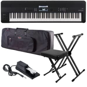 Korg KROME-88 Music Workstation STAGE ESSENTIALS BUNDLE