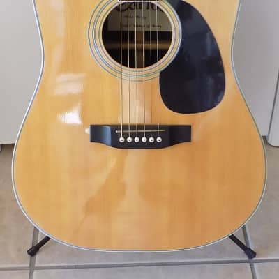Carlos Model 260 Acoustic Dreadnought Guitar /  Hard Case / Good to VG Condition / Vintage for sale