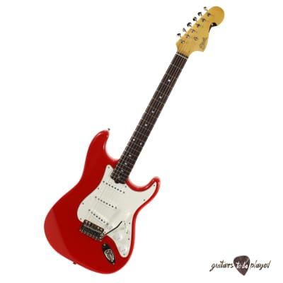 Elliott S-Series Stratocaster Guitar w/ BladeRunner Tremolo - Race Car Red for sale