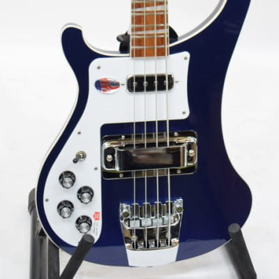 Rickenbacker 4003 4003MID Left Handed Midnight Blue Electric Bass Guitar w/ Hard Shell Case 1740694 for sale