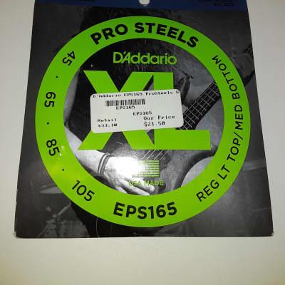 D'Addario EPS165 ProSteels Stainless Bass String Set - Custom Light .045-.105