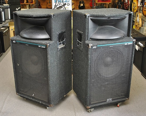 Peavey Ds3003 2x15 Quot Horn Pa Dj Speaker Pair Local
