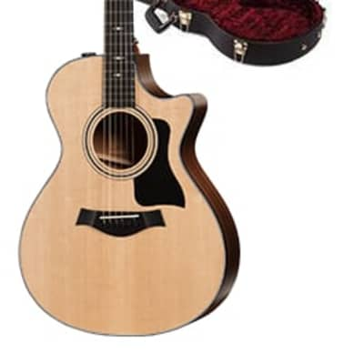 Taylor 300 Series 312ce Model Grand Concert Cutaway Acoustic/Electric Guitar w/ Taylor Deluxe Brown Hardshell Case for sale