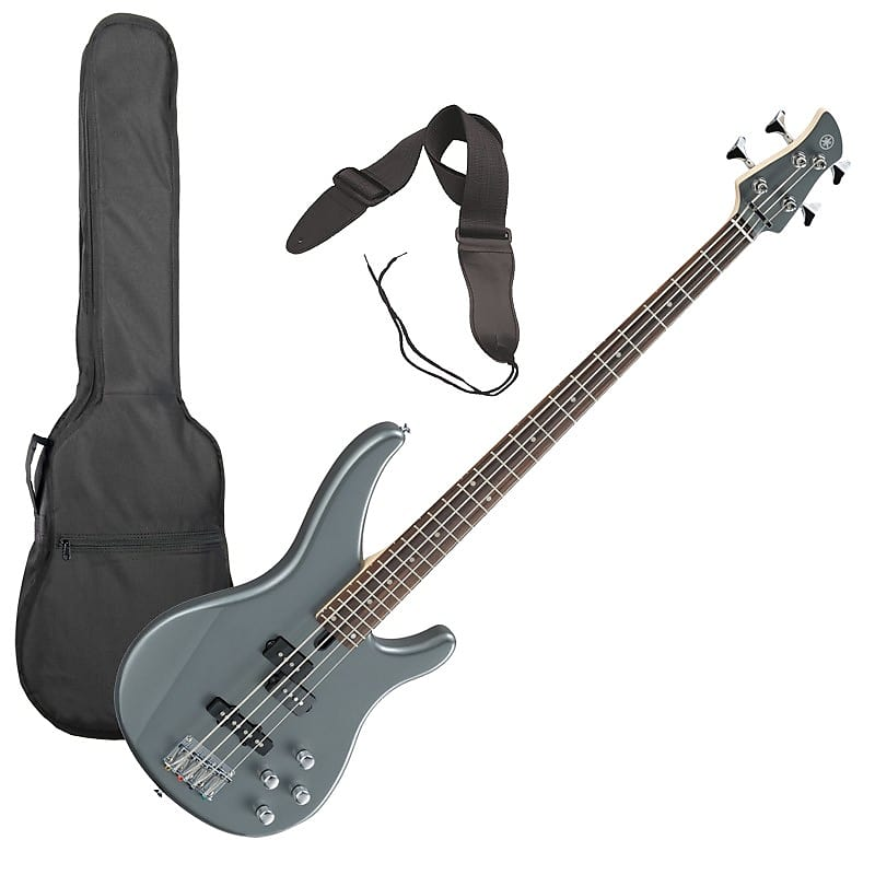 yamaha trbx204 bass guitar gray metallic performer pak reverb. Black Bedroom Furniture Sets. Home Design Ideas