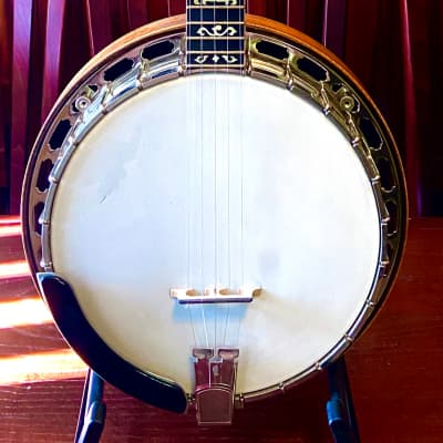 Cloverlick Banjo Shop Custom Presentation Grade Bluegrass Banjo by Jeffrey Kramer  Spalted Maple for sale