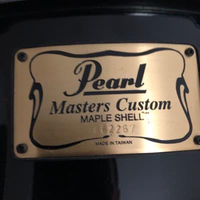 "Pearl 14""x5.5"" Masters Custom MMX snare drum Piano Black"